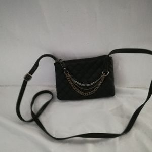 Express small cross body Bag with Accent Chains